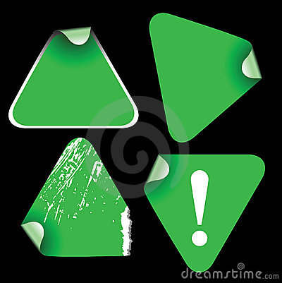 Green triangle labels