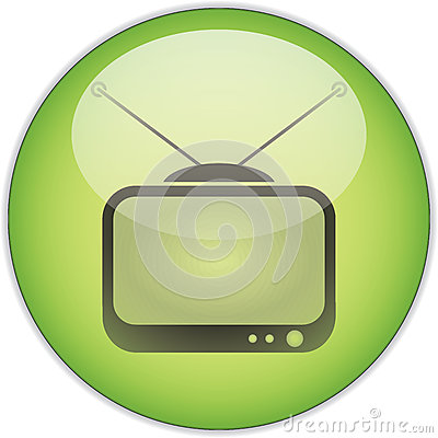 Green TV Button
