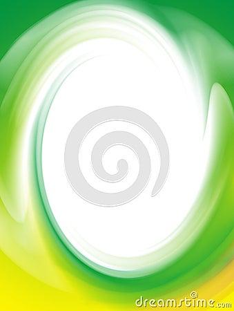 Green twirl frame