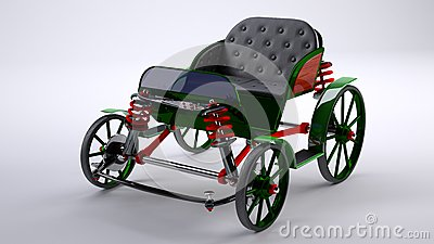 Green unreal horse carriage