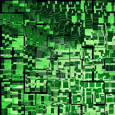 Green Urbanism Luminous Royalty Free Stock Image - Image: 13031496