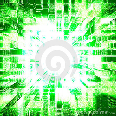 Green urbanism luminous background