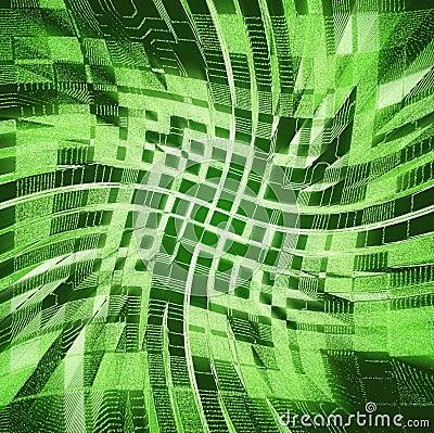 Green urbanism luminous background