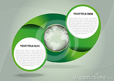 Green vector abstract background with globe