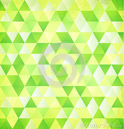 Green vector abstract triangle vintage background