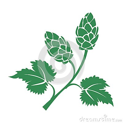 Free Green Vector Hops Icon Royalty Free Stock Photos - 41861158