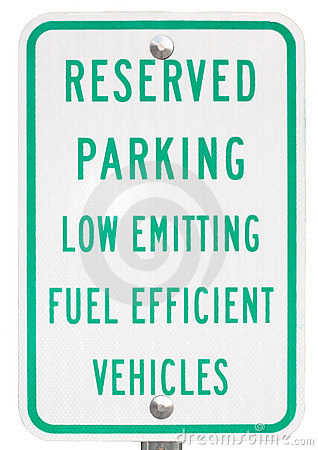 Green Vehicle Reserved Parking Sign