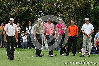 Green Velvet golf pro-am, Megeve, 2006 Editorial Photo