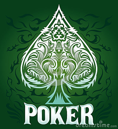 Green velvet Vintage Poker badge