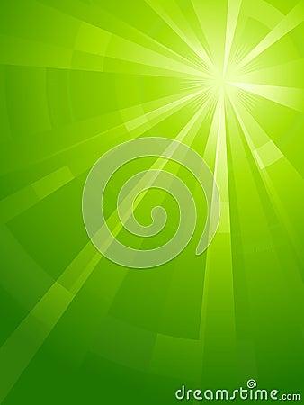 Green vertical asymmetric light burst