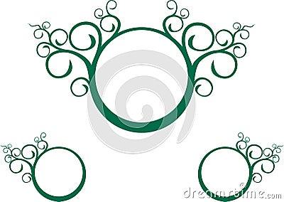Green vine spiral