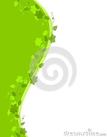 Green Vine Swoosh Border