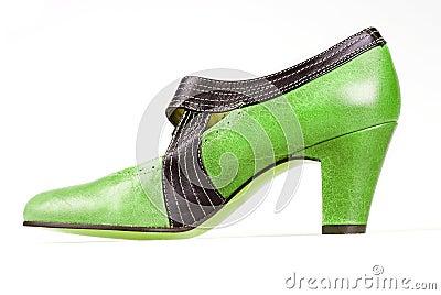 Green vintage shoe