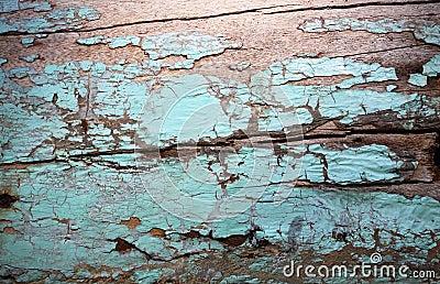 Green vintage wood