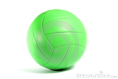Green volley ball