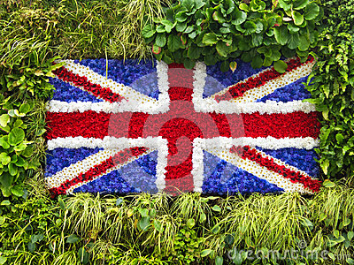 Green wall Union Jack