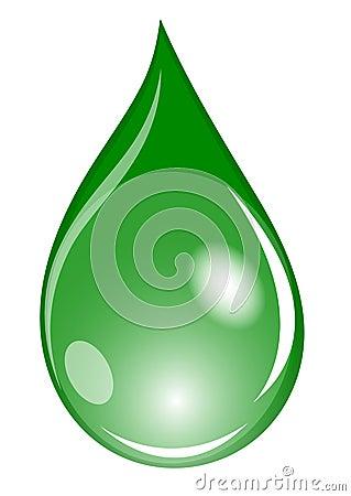 Green waterdrop