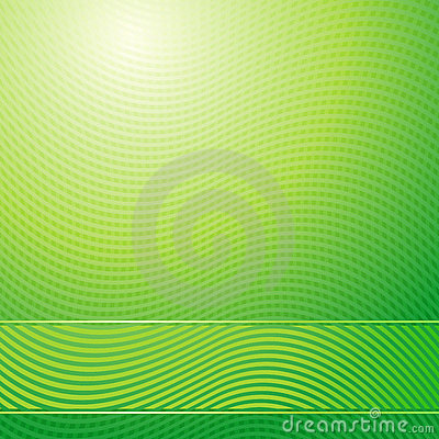 Green waves abstract light background