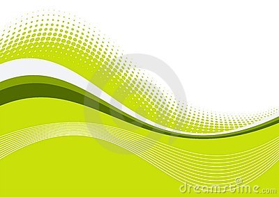 Green wavy graceful lines