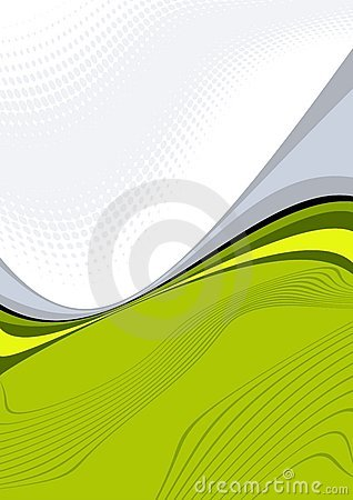 Green wavy illustration