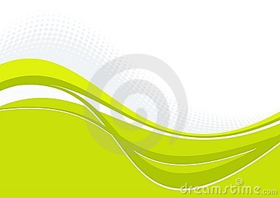 Green wavy pattern with curves