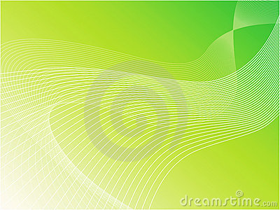 Green wavy vector background