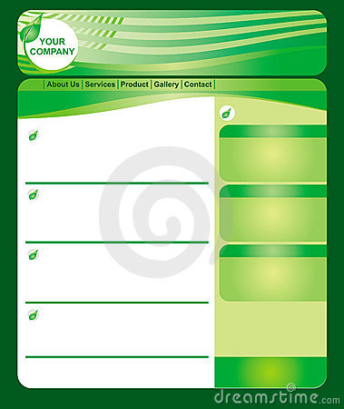 Green web page template