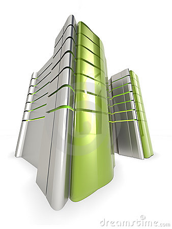 Free Green Web Servers Royalty Free Stock Image - 9336116