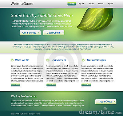 Green website nature template design