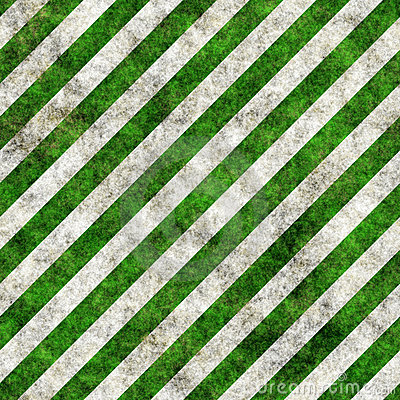 Green white grunge hazard stripes
