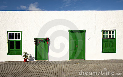 Green and White House, Lanzarote