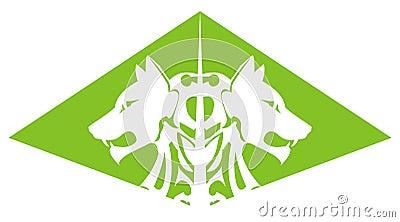 Green wolf pyramid