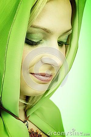 Free Green Woman. Royalty Free Stock Photos - 671078