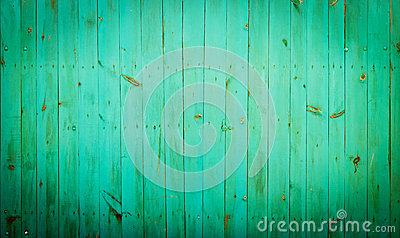 Green wood background.