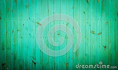Green wood background.