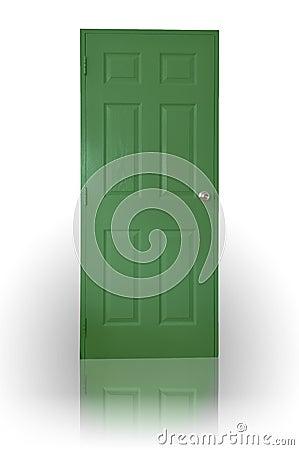 Free Green Wood Door Stock Photography - 16319122