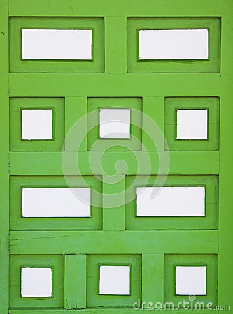 Green wood rectangular shaped