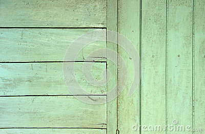 Green wood wall background