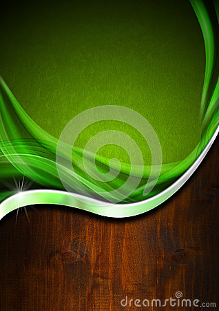 Green and Wooden Business Background