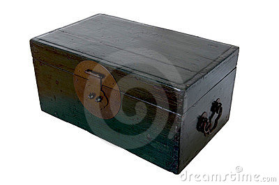 Green Wooden Chest