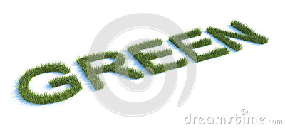 Green Word with Grass