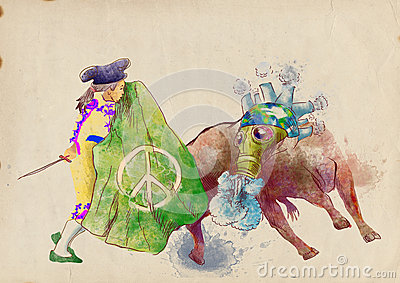 Green world - bullfight