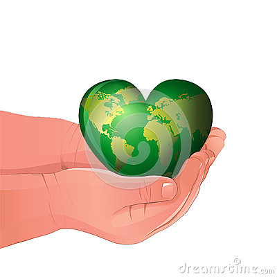 The green world holding  in Childs hands