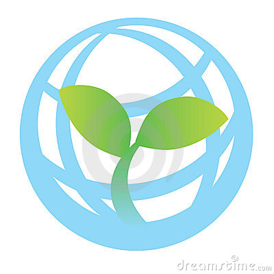 Free Green World Logo Stock Photography - 12507222