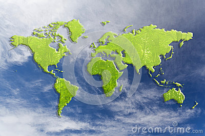 Green world map
