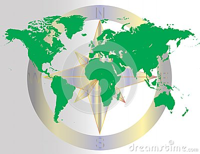Green World Navigating Map