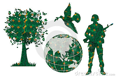 Green world peace