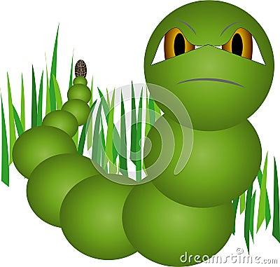 Free Green Worm Royalty Free Stock Photos - 10771128