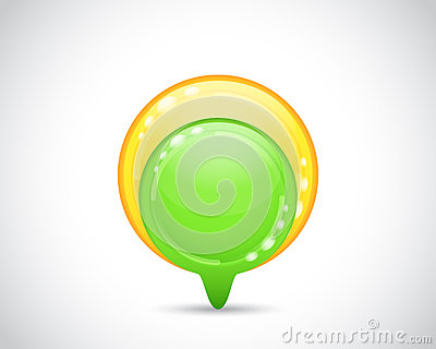 Green and yellow arrow button