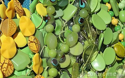 Green and yellow beads